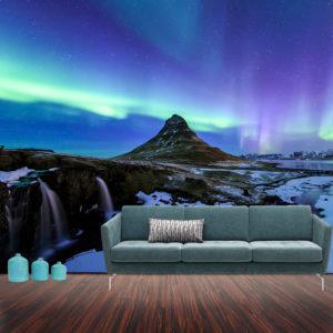 fotomural aurora boreal