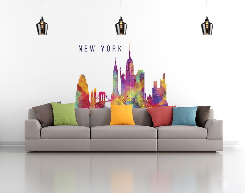 New york colors vinilos decorativos fotomurales - Vinilos decorativos fotomurales ...