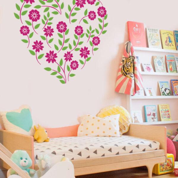 Vinilos decorativos florales para decorar ambientes