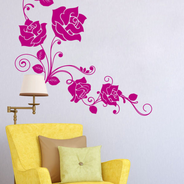 Vinilo Rosas Vintage
