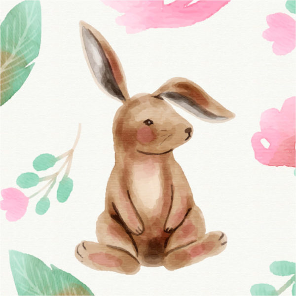 cuadro de conejo decorativo infantil