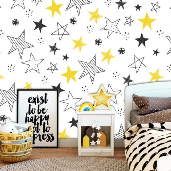 habitacion de niña con decoración amarilla