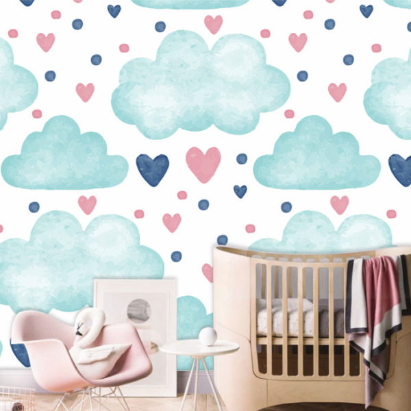 textura de nubes tipo acuarela