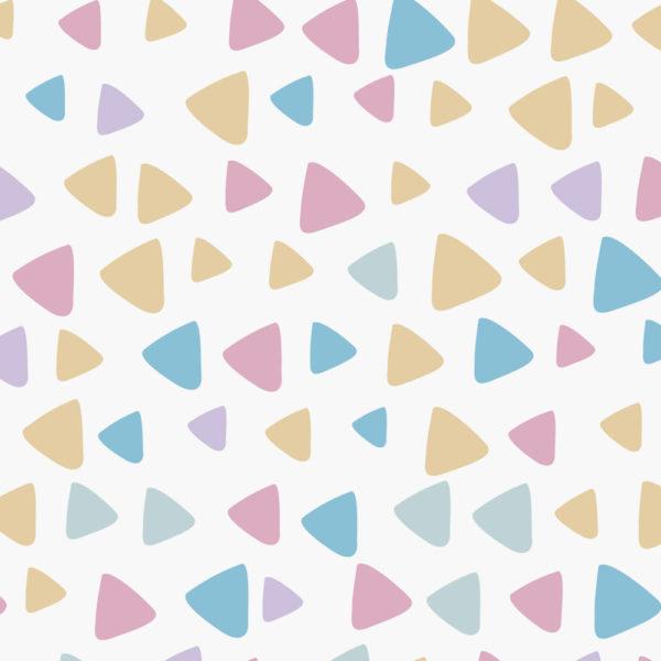 triángulos en colores pasteles