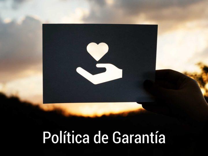 Política de reembolso y garantía